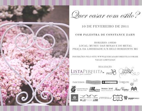 Para as noivas de BH que querem casar com estilo, olha de delícia de evento que a Lista Perfeita, Marina Favato e a Ato18 preparam para vocês, imperdível, né?